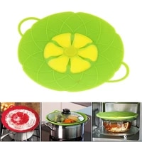 26cm kitchen silicone pot anti overflow lid spill stopper pan boil over safeguard cover caps against iron cooking tools