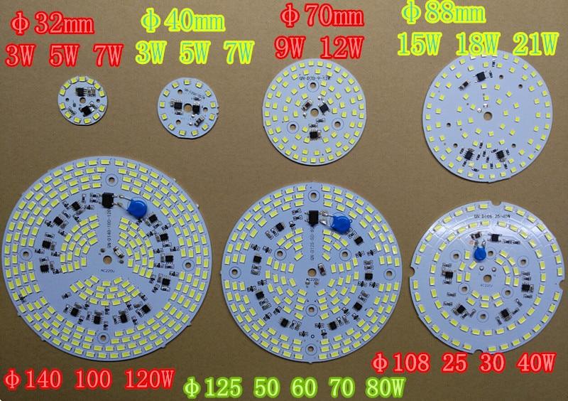 DIY светодиодный светильник 220 В 5730 SMD с регулируемой яркостью светодиодный чип-пластина 30 Вт WW CW интегрированный ic драйвер лампа панель свето...