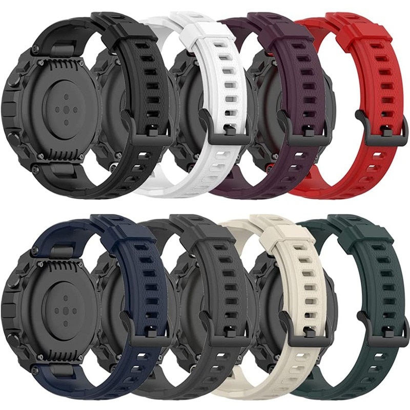 smart watch band for amazfit t rex pro silicone replacement bracelet accessories for amazfit t rex strap watchband with tool Watch Band For Xiaomi Amazfit T-Rex Pro/A1918 Silicone Soft Wrist Strap Replacement Bracelet For Huami Amazfit Trex Sport Band