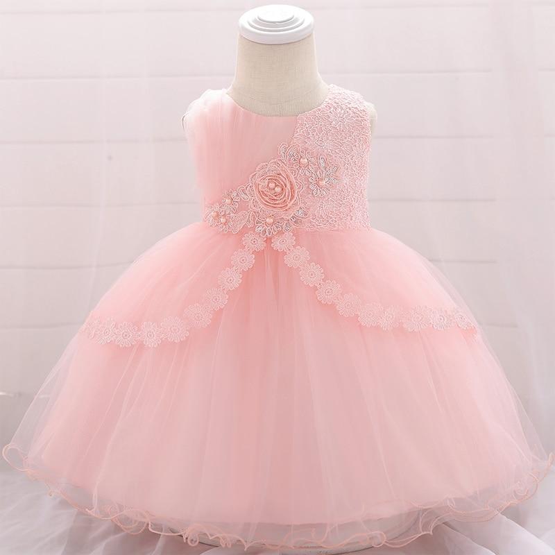 Летнее платье для девочек 0-24 месяцев с цветами, платье принцессы на крестины и день рождения на 1 год, платье для маленьких девочек на вечери...