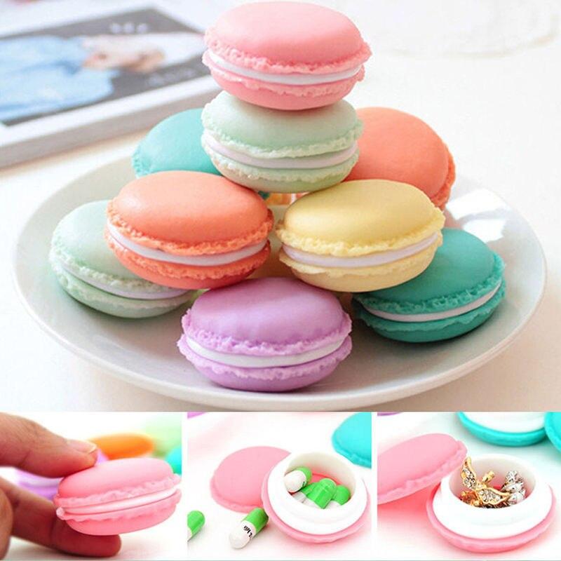 6PCS Storage Box Mini Earphone SD Card Macarons Bag Storage Box Case Carrying Pouch jewellery organi