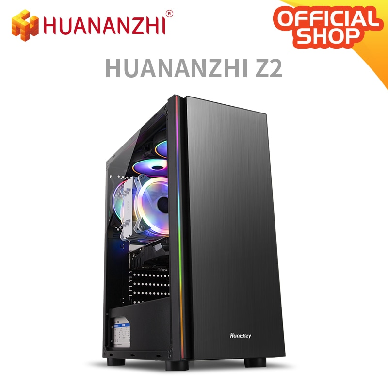 HUANANZHI Z2 Gaming E5 Desktop Computer cpu 2689 DDR3 2*16G Gaming Card GTX 1050TI 4G SSD 480G High cost performance Gaming PC