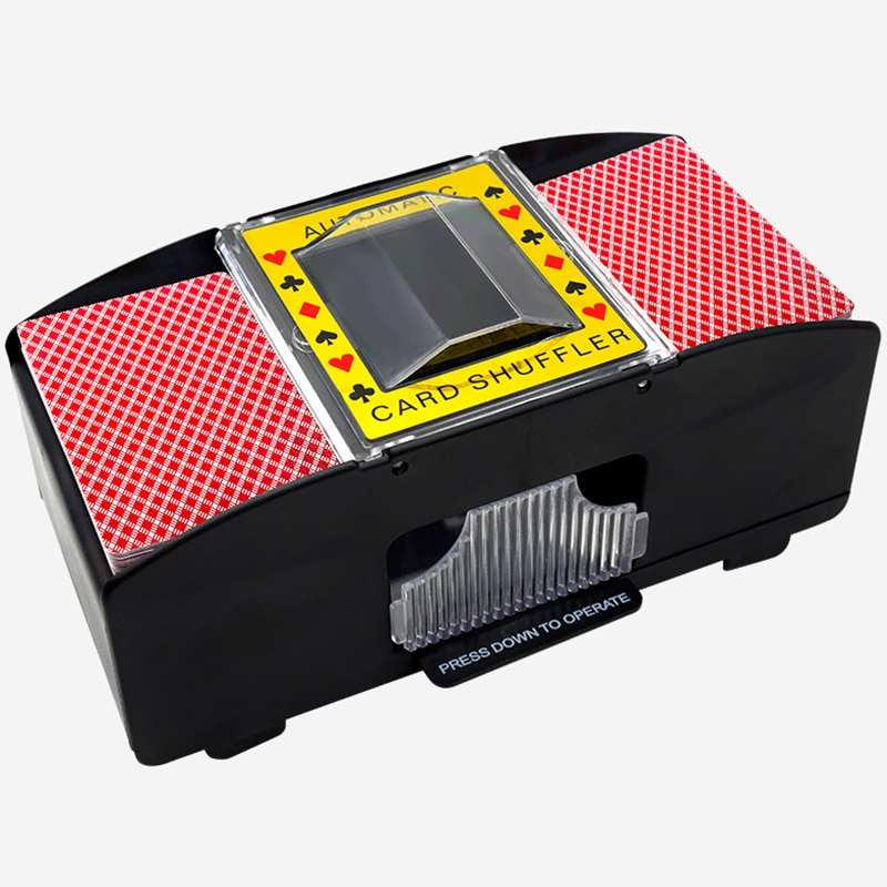Automatic Card Shuffler Board Game Poker Playing Cards Electric Perfect For Bridge Or Poker Size Playing Cards Board Game Poker bicycle skull playing cards new poker cards for magician collection card game