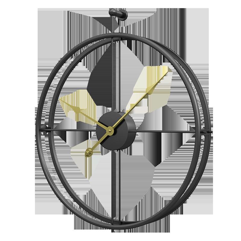 Reloj de pared de hierro forjado para decoración del hogar, Relojes de pared de gran tamaño para oficina, reloj silencioso montado, relojes colgantes de diseño moderno europeo