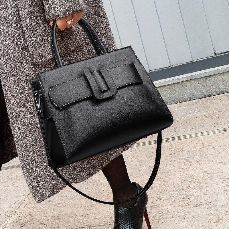 100% Genuine Leather Bags 2021 New Large-capacity Black Winter All-match Crossbody Shoulder Handbag Purses and Handbags Luxury