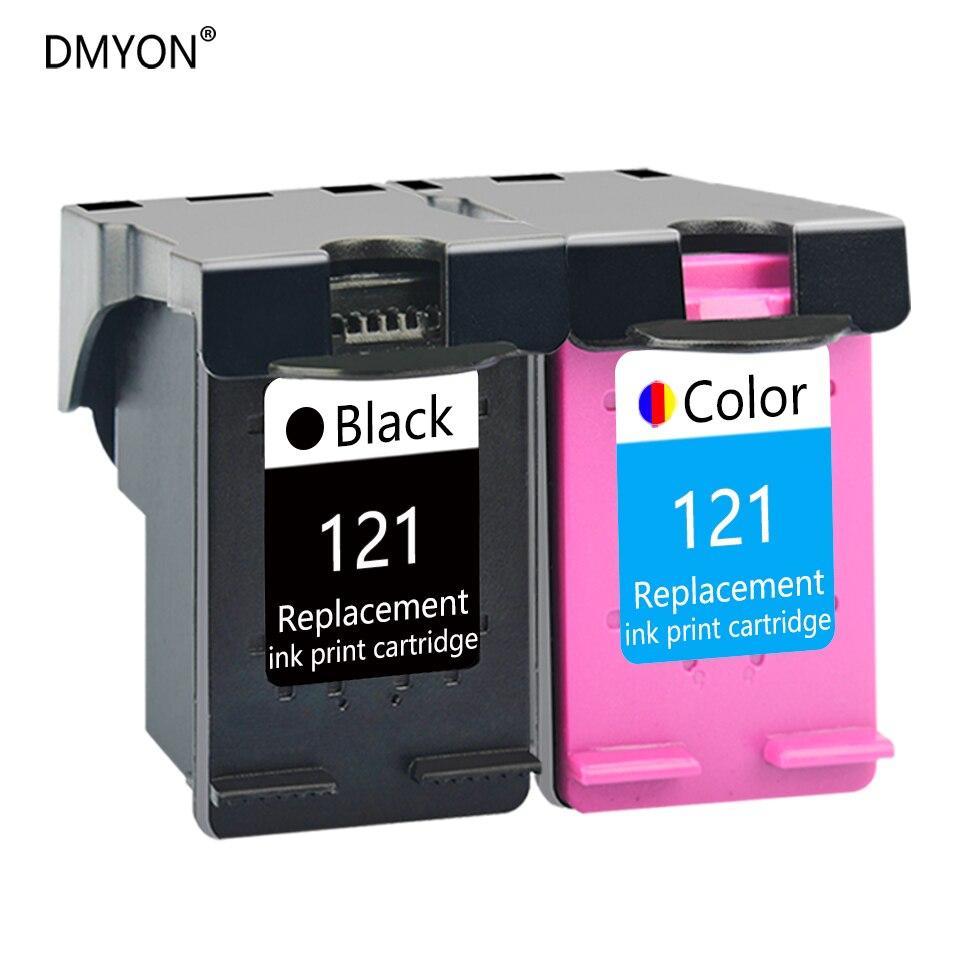 DMYON Tinte Patrone Kompatibel für HP 121 Deskjet D2563 F2423 F2483 F2493 F4213 F4275 F4283 F4583 Alle-in-one Drucker