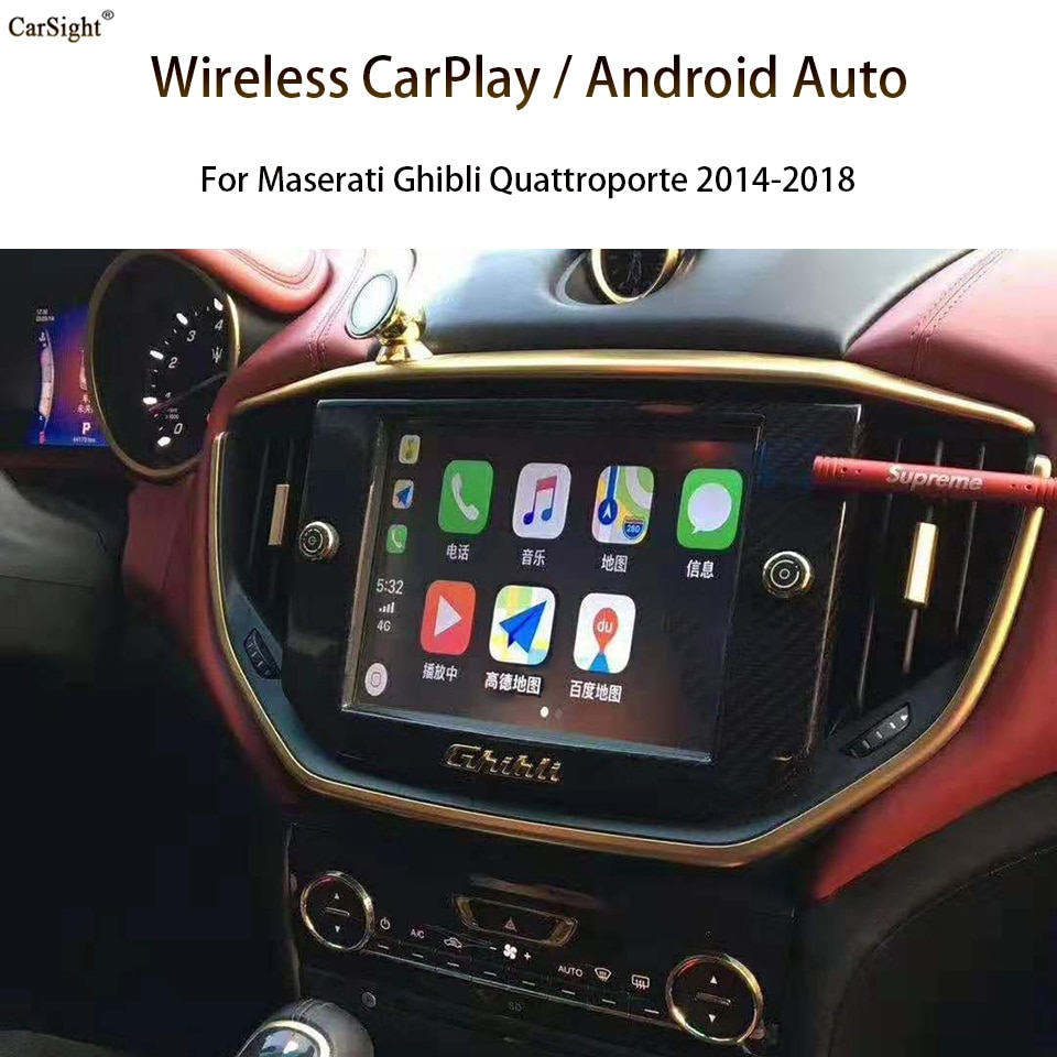 CarSight CarPlay for Maserati Car Play Phone APP Maps Songs Text Message Siri Voice Control Calling