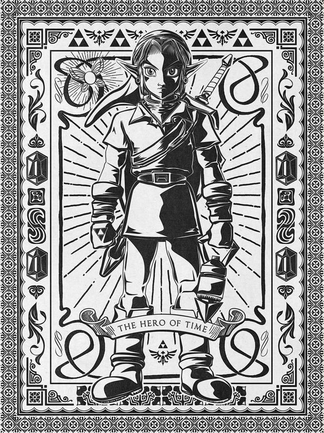 Todo el cuerpo pintura la leyenda de Zelda Video juego póster lienzo Retro DIY pared PEGATINAS ARTE Home Bar carteles Decoración regalo