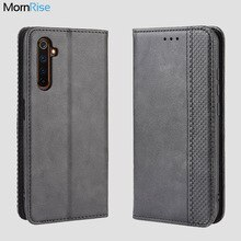 For OPPO Realme 6 7 5 Pro Case Book Wallet Vintage Magnetic Leather Flip Cover Card Stand Soft Cover