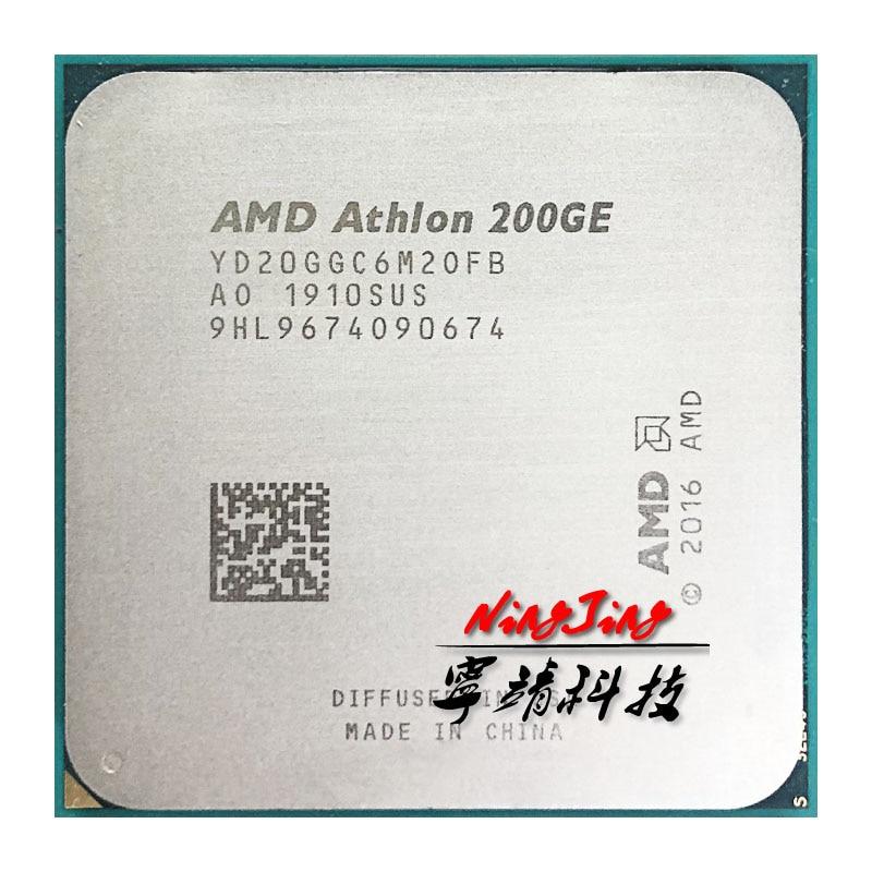 AMD Athlon 200GE X2 200GE 3,2 GHz Dual-Core Quad-Hilo de procesador de CPU YD200GC6M2OFB / YD20GGC6M2OFB hembra AM4