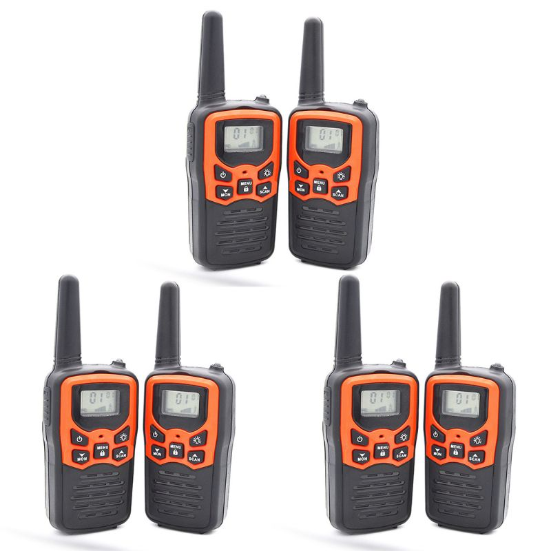 Walkie Talkies for Adults Long Range 6 Pack 2-Way Radios Up to 5 Miles Range in Dropship enlarge