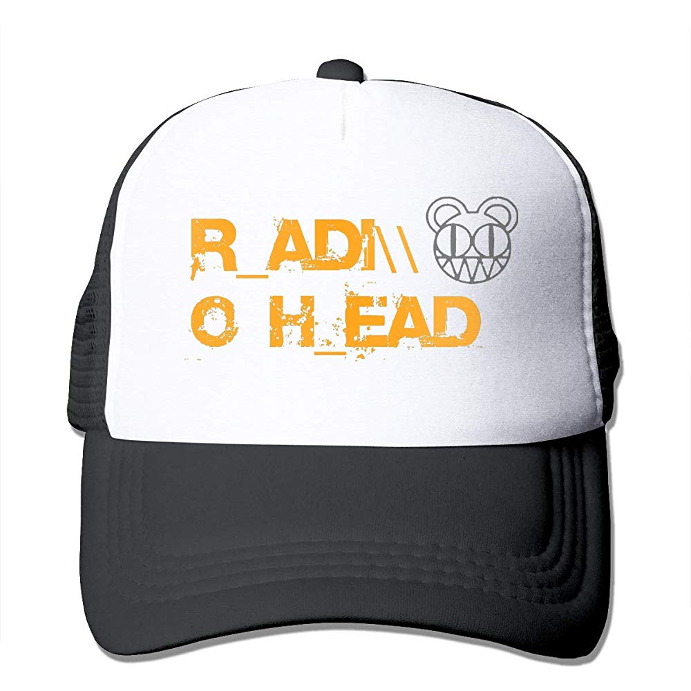 TSDFCRadiohead Cool Banda de Música Logo gorra de camionero gorra de béisbol gorra de rejilla negro para adolescentes y adultos