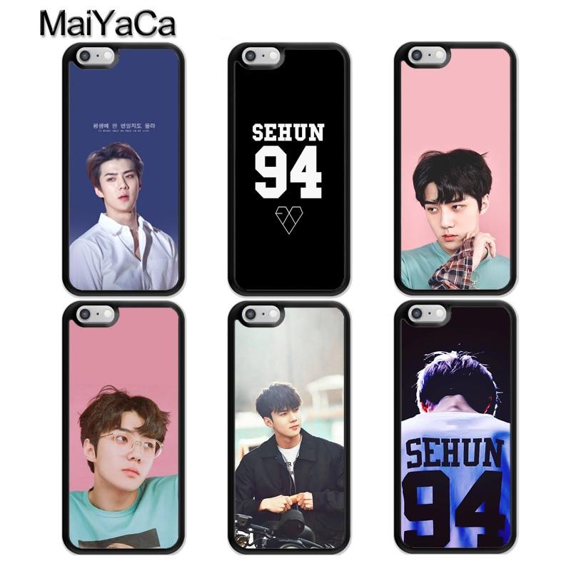 MaiYaCa SEHUN EXO caso para iPhone 11 Pro Max XR X XS X máx. 6S 6 7 8 Plus SE 2020 cubierta