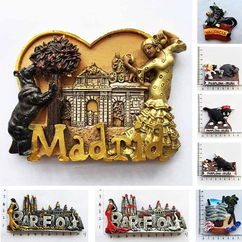Imanes de nevera de Madrid, Barcelona, España, recuerdos turísticos, Flamenco, danza, niña,...