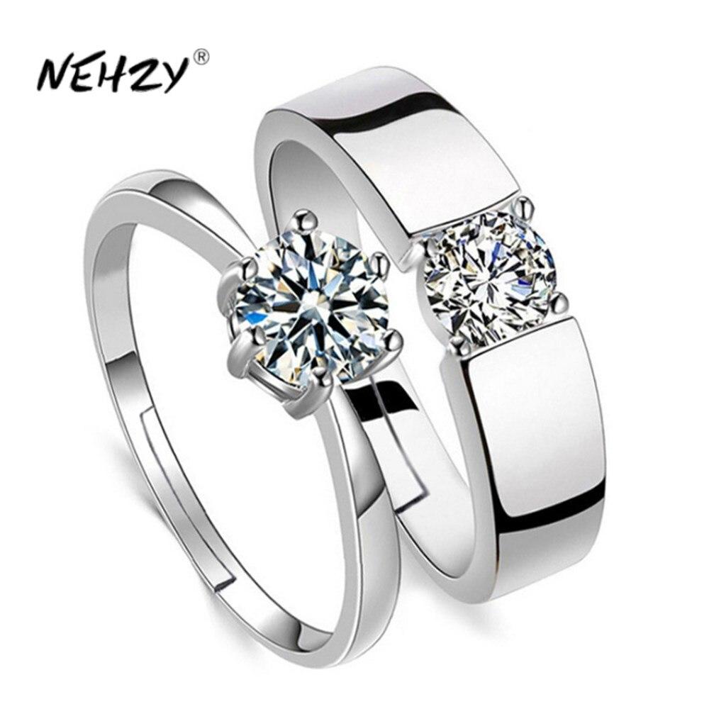 NEHZY 925 sterling silver new women's fashion jewelry high quality crystal zircon four claw six claw