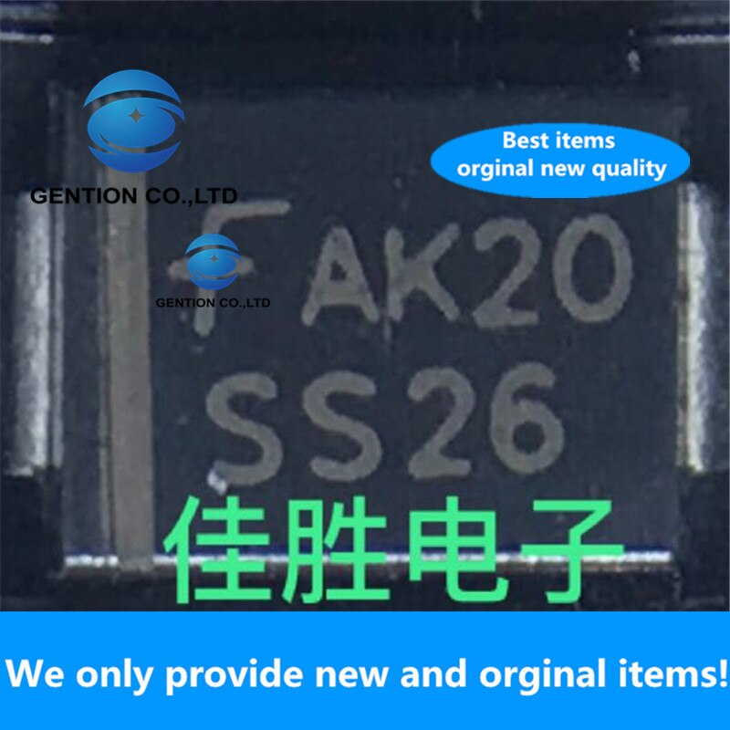 50 Uds 100% nuevo original 2A60V Schottky DO214AA pantalla de seda SS26