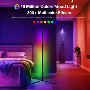Modern RGB Angle Light Floor Lamp Standing Lighting Indoor Decor Lights Home Decoration Dimmable LED Colorful Remote Control