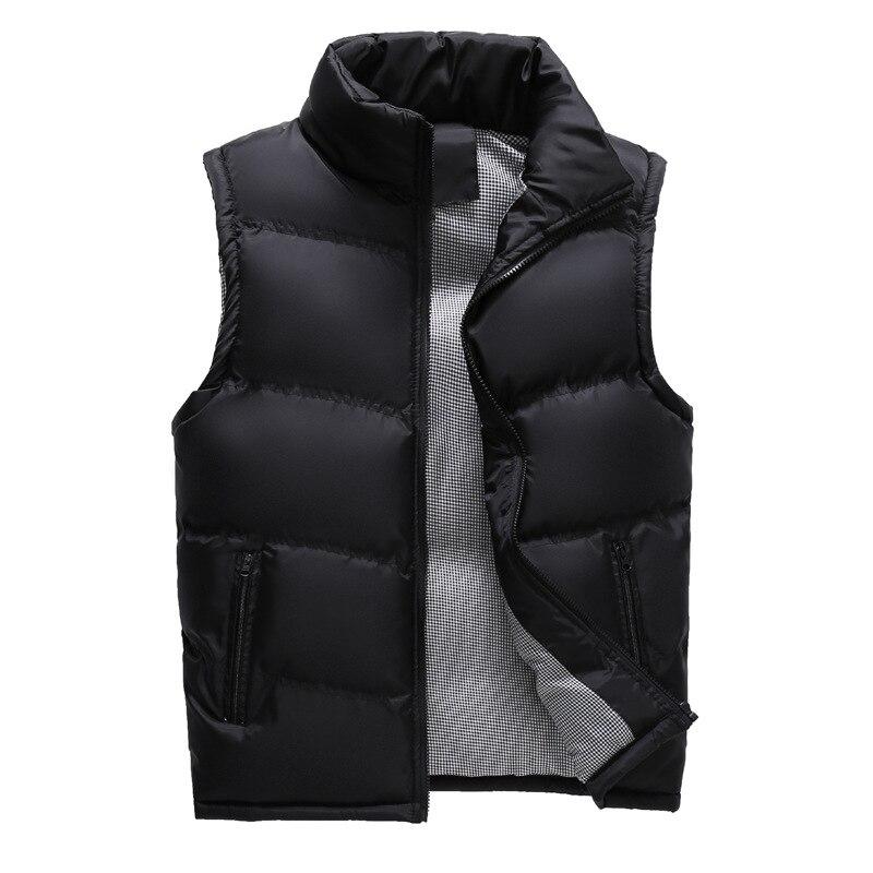 Зима 2019, мужской жилет без рукавов, повседневные фотографские пальто с хлопковой подкладкой, утепленные мужские жилеты, безрукавки XCZ27