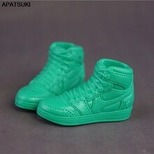 1pair Green Basketball Doll Shoes for Ken Boy Dolls Sports Shoes for Barbie's Boyfriend Ken 1/6 Dollhouse Accessories Kids Toys