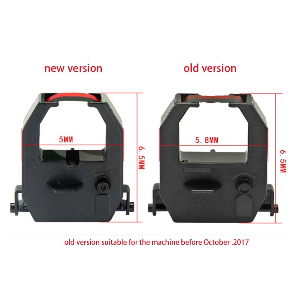 10-50 piezas 1,8 M negro y rojo Stylus impresora cinta para AMANO EX EX3000 EX5000 EX6000 EX6200 EX9200 EX9500 PIX PIX3000 PIX3200 PIX6000
