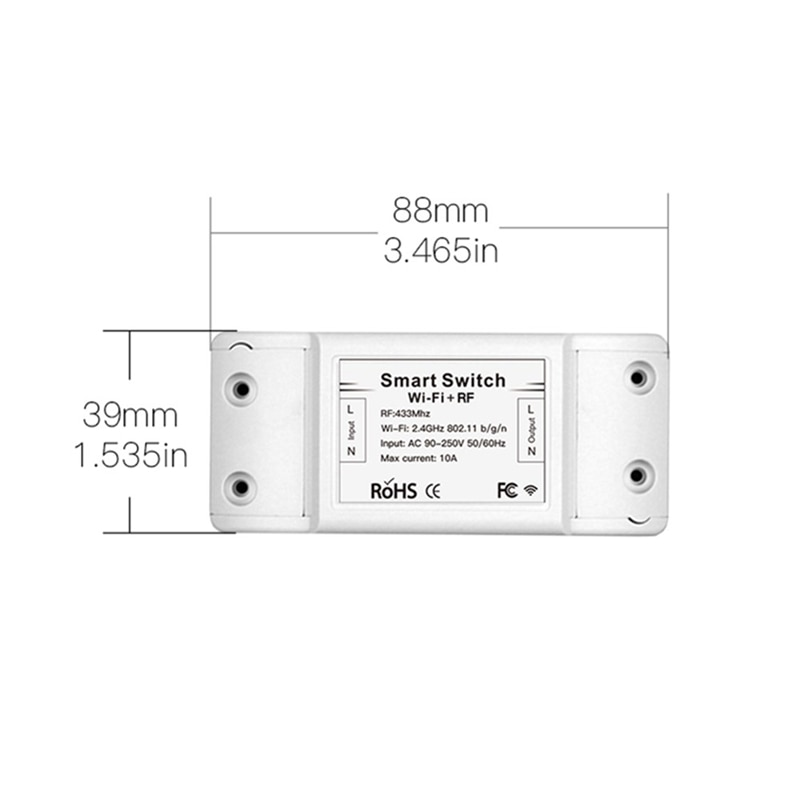 Moeshouse MS-101WR AC90-250V 433Mhz RF Wifi Control remoto interruptor de luz inteligente Control de voz dispositivo compartido