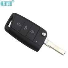OkeyTech-clé de voiture pour VW Golf 7 GTI MK7 Skoda Octavia A7   Siège pliable et rabattable à 3 boutons, pour télécommande