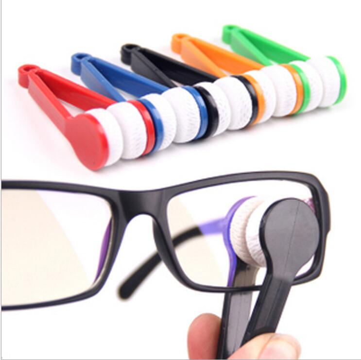 1pc Portable Multifunctional Glasses Cleaning Rub Two-side Glasses Brush Microfiber Spectacles Clean