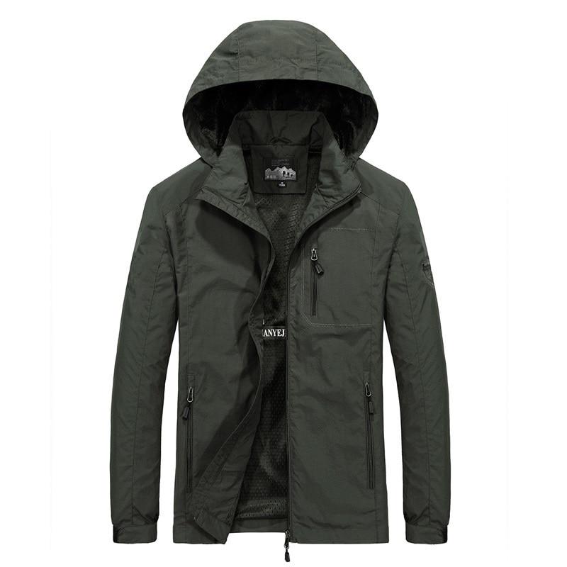 Men's Windbreaker Jackets Waterproof Military Hooded Water Proof Wind Breaker Casual Coat Male Clothing 2021 Autumn Jackets Men
