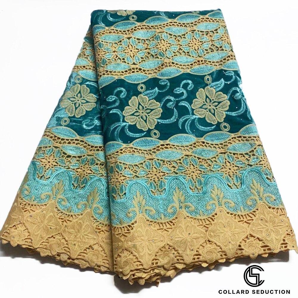 CS 2020 Высококачественная африканская кружевная ткань с камнями, африканская гипюровая кружевная ткань с вышивкой для бархатной кружевной т...
