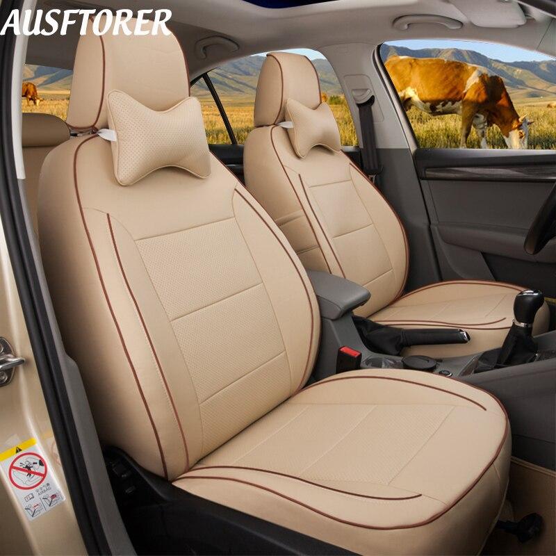 AUSFTORER, Funda de cuero genuino para automóvil, asiento para LEXUS GX460 GX470, fundas de asiento para coche, 7 asientos, accesorios de soporte de cojín, 24 Uds