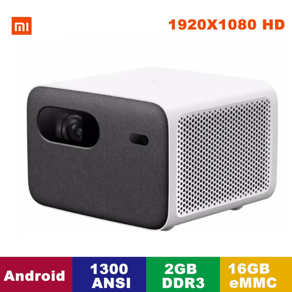 Xiaomi Mijia Projector 2 Pro Smart Laser TV 1300 ANSI HD 1080P Full HD Resolution 2GB+16GB eMMCAI Voice Remote Control