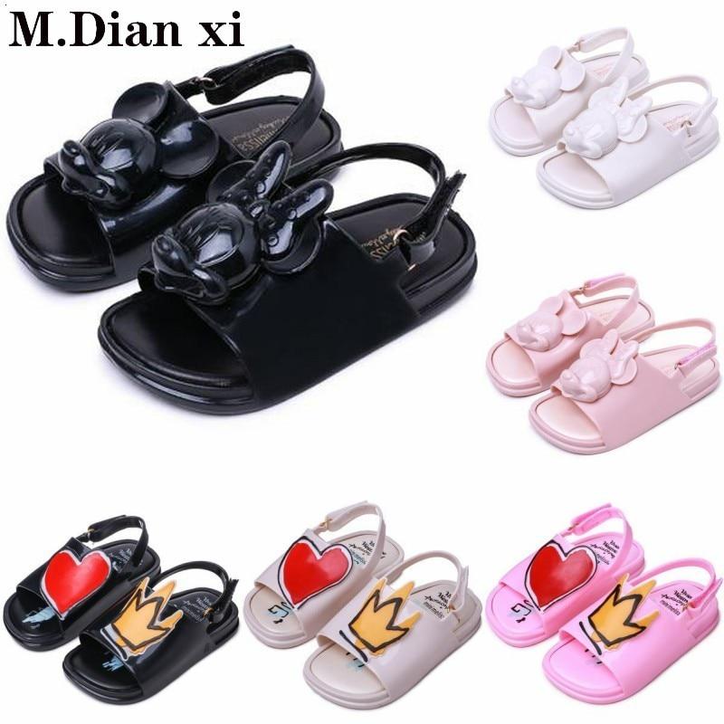 Zapatos 2019 3D de dibujos animados y Minnie Jelly, sandalias para niñas, sandalias suaves y cómodas para niños y niñas, sandalias para playa