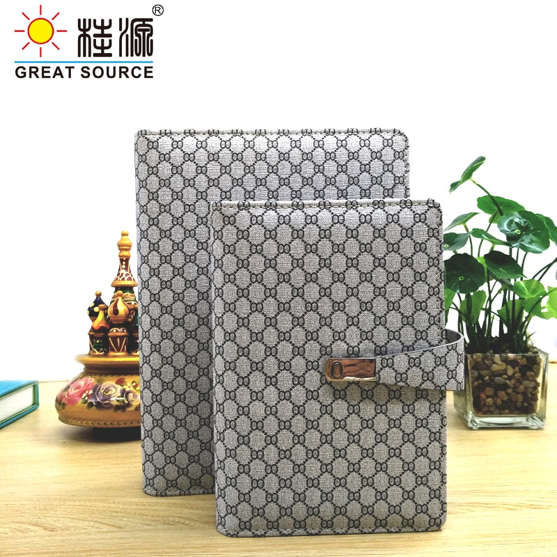 Padfolio Conference Fefillable Folder Clear Pen Bag Color Stickers Fashion Design 6 Rings Binder For Notebook 2021 Calendar