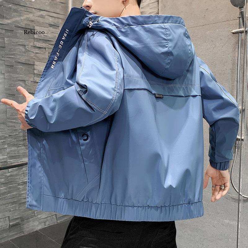Мужская непромокаемая куртка с капюшоном, черная непромокаемая ветровка с капюшоном, верхняя одежда для осени и зимы, 2021