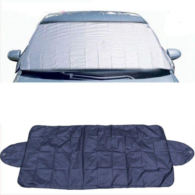 Pare-soleil pare-brise pour voiture   Pare-soleil avec ventouse, protection contre la neige, la poussière de glace et le gel