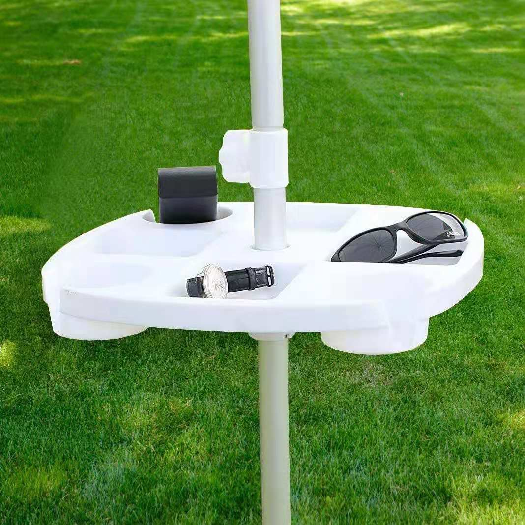 Plastic Beach Umbrella Stand Cup Holder Sun Tray Environmental Protection PP Acc