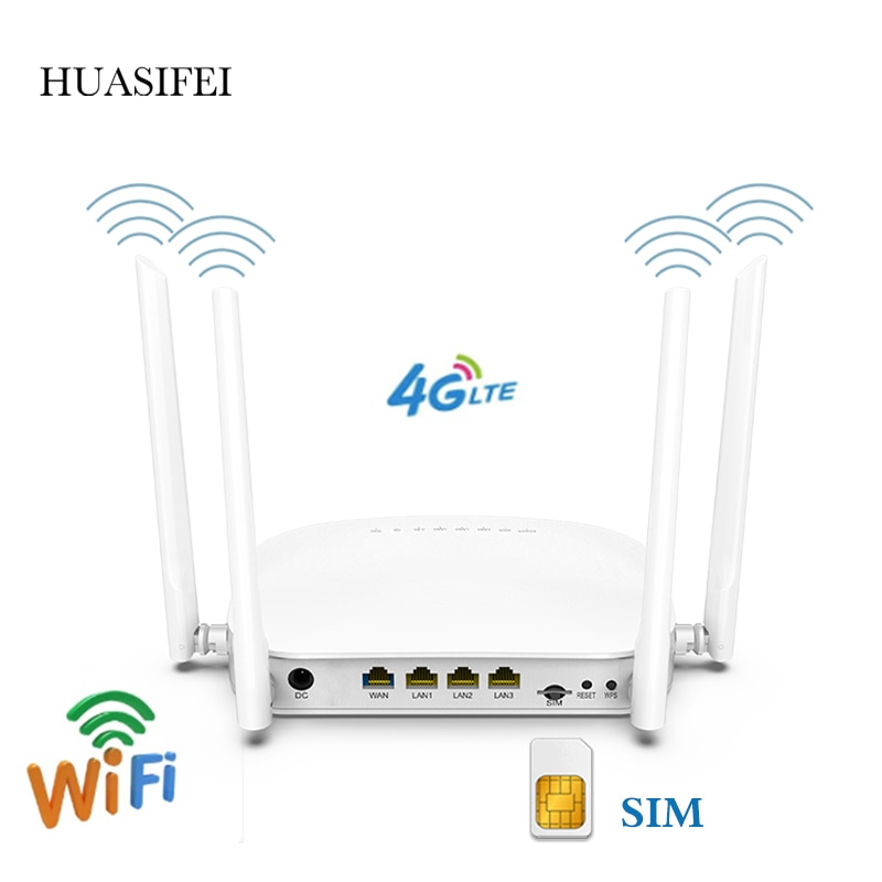 300Mbps LTE 4g Wifi Router Wireless CPE Router With SIM Card Slot  Extender Strong Wifi For IP Camera/Outside WiFi Coverage enlarge