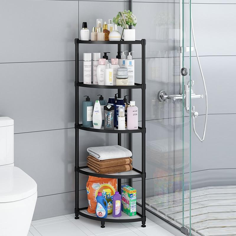 Bathroom shelf bathroom floor-standing multi-layer tripod washbasin wall corner toiletries storage shelf