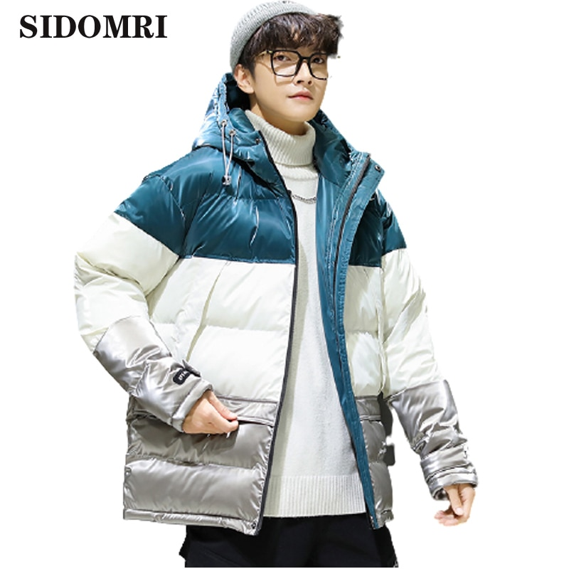 New down jacket couple short winter fashion trend 90% white duck down handsome versatile couple bread hooded coat hig quality