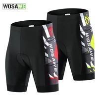 wosawe mens cycling shorts mtb road bike silicone breathable cushion outdoor stretch sports pants bicycle anti slip tights