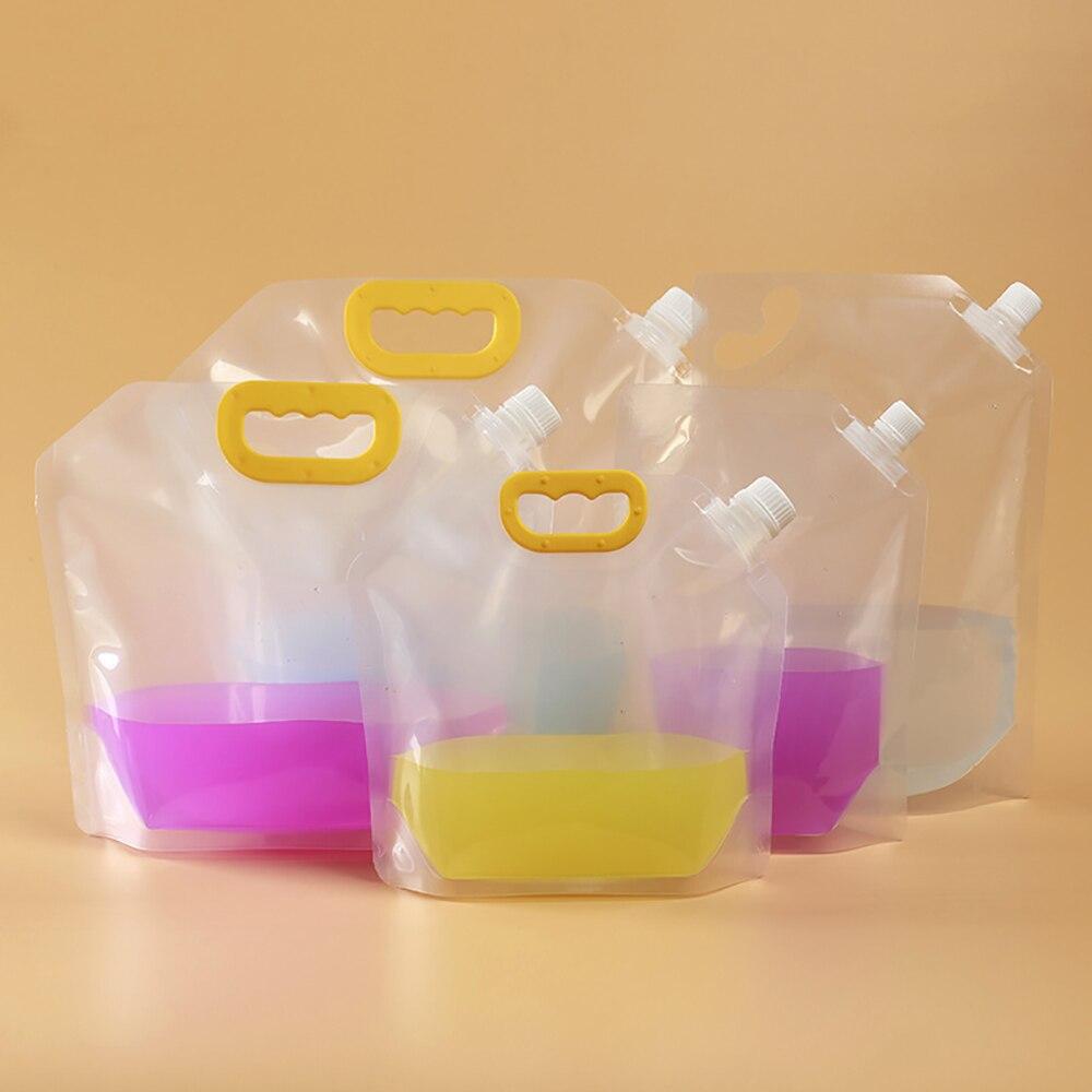 10 قطعة دوق-باي شفافة الوقوف المشروبات البلاستيك حزمة صنبور الحقيبة مع مقبض 1500 2500 مللي 5L