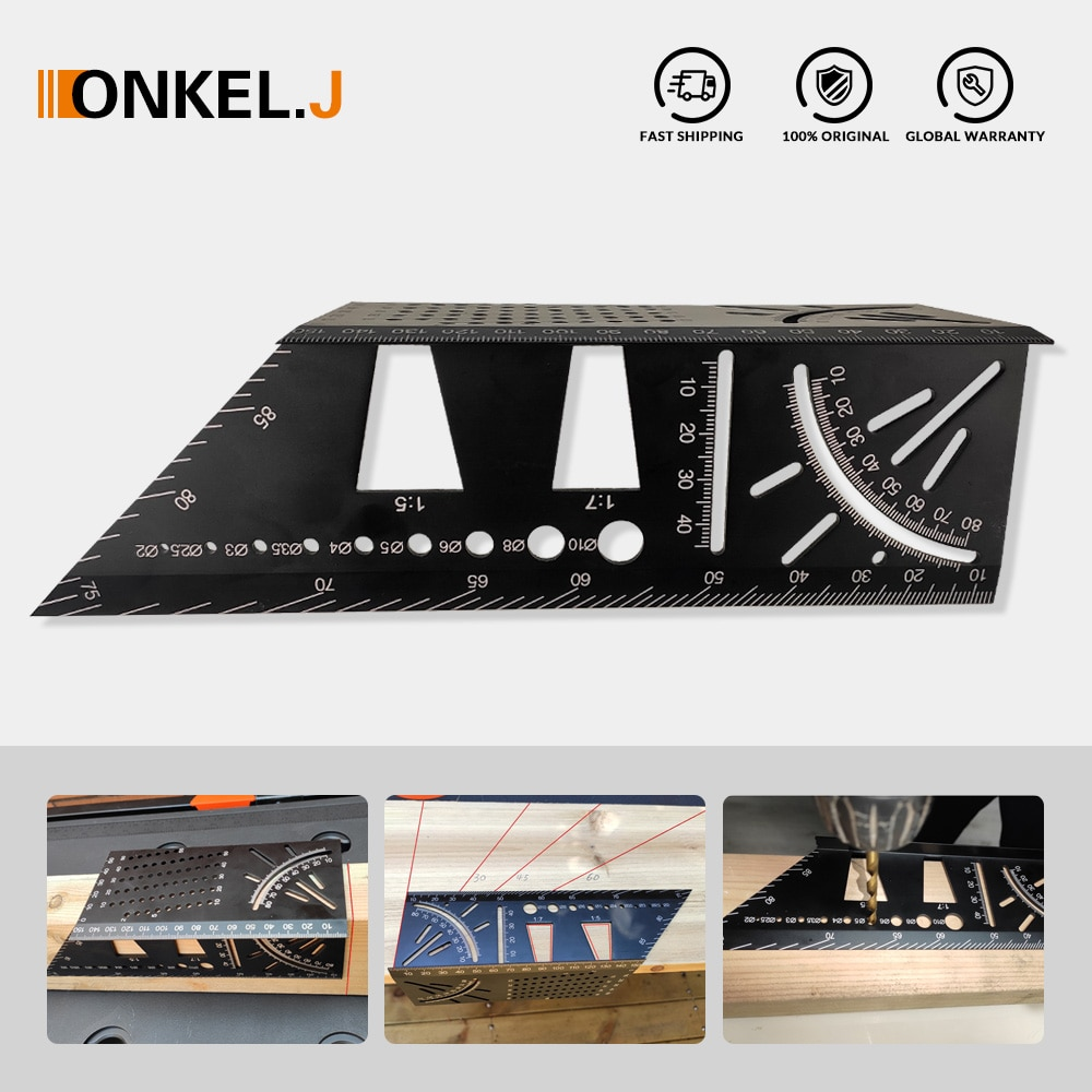 Aluminum alloy Carpenter's T marking miter gauge Angle 45 degrees bevel 90 degrees dovetail template woodworking scribing tool [vk] tocos lap axial length 50mm small angle 45 degrees 3pcs lot switches