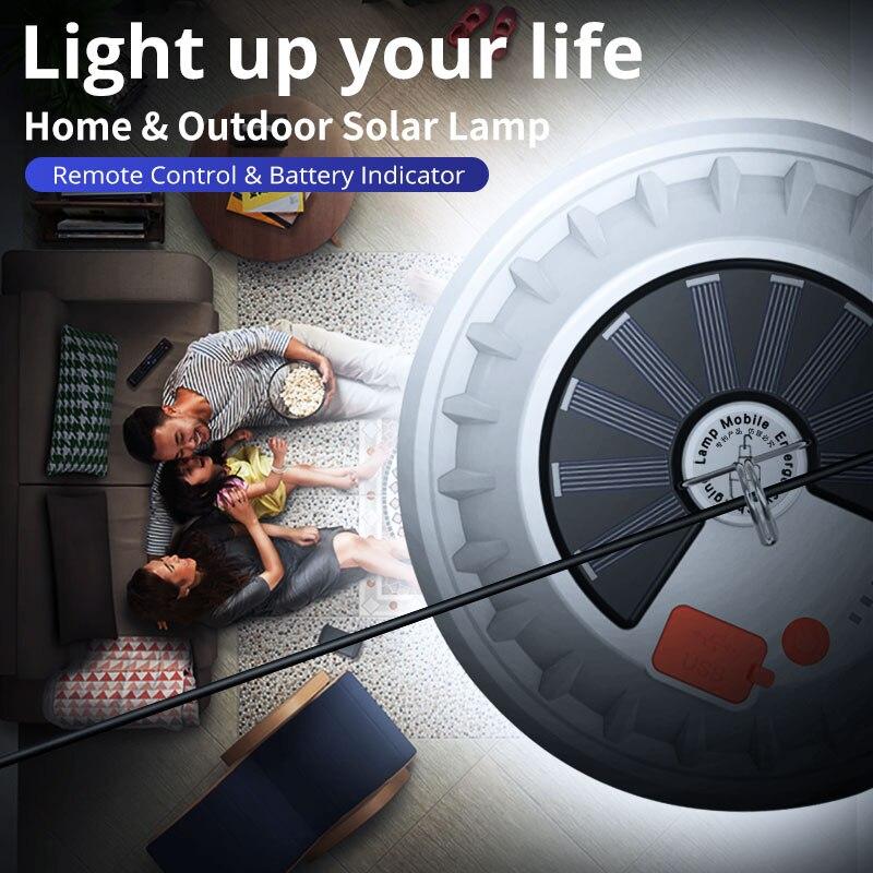 lampada led recarregavel controle remoto iluminacao portatil emergencia luz noturna