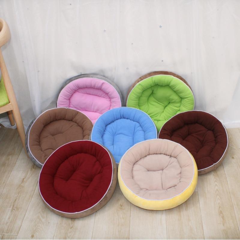Cama de perro suave y colchoneta, cuna redonda para gatos, nido para casa de perro mascota, cojín de felpa, productos de sofás para cachorros pequeños y medianos, SML