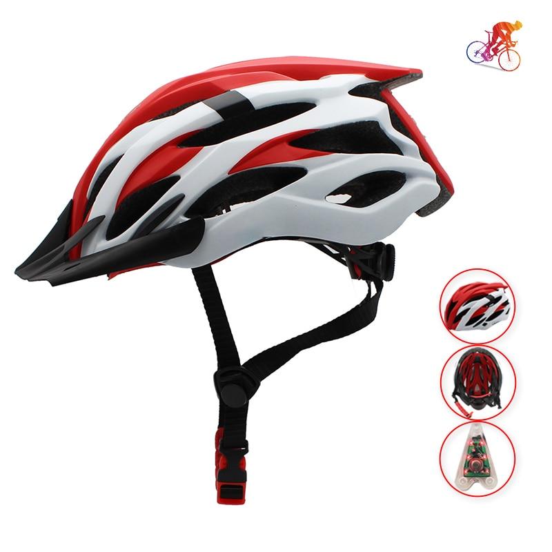 Casco de ciclismo ultraligero con tapa de luz de cola, moldeado integralmente,...