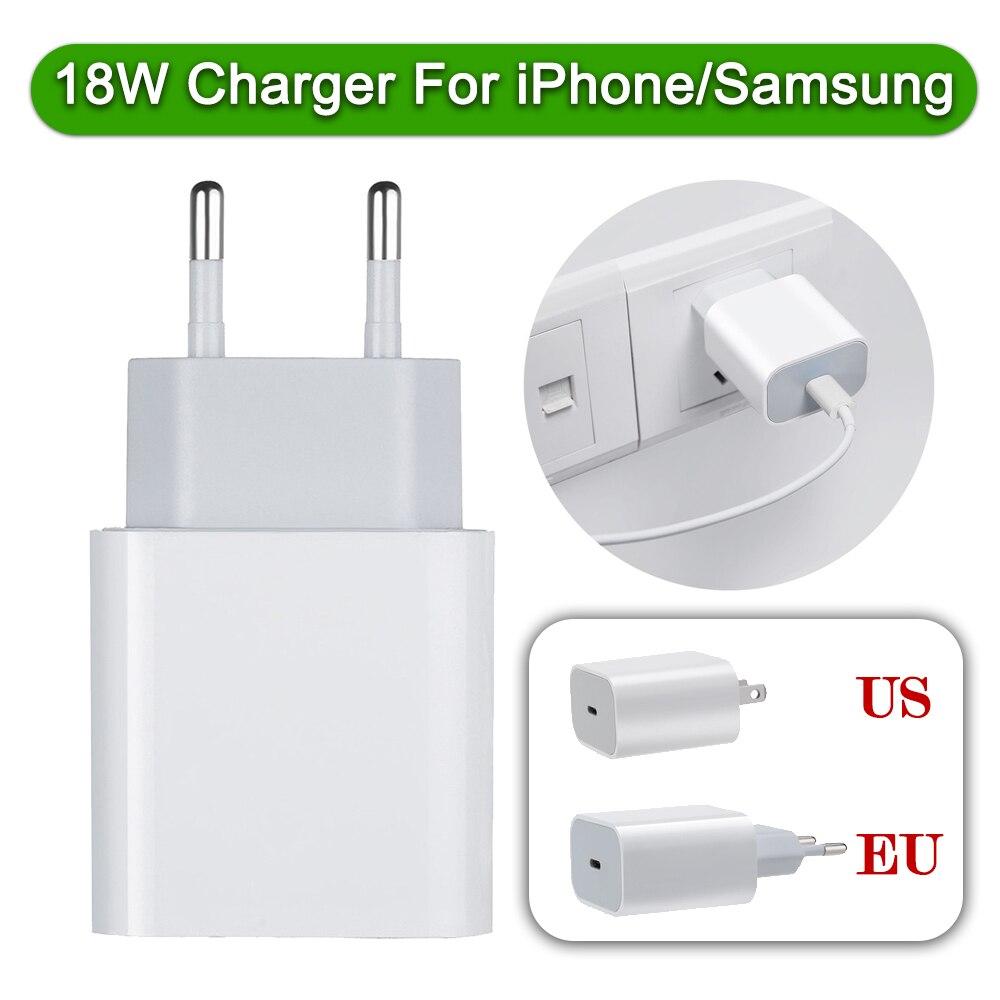 USB-C de carga rápida de 18w, adaptador de corriente de viaje para...