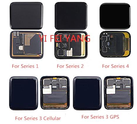 Pantalla LCD MONTAJE DE digitalizador con pantalla táctil pieza de reparación para Apple watch serie 1 2 3 38mm 42mm 4 40mm 44mm pantalla