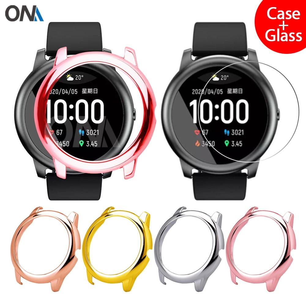 Protector Case + Screen Protector for Xiaomi Haylou Solar LS05 Smart Watch Women Girl Protective Cov