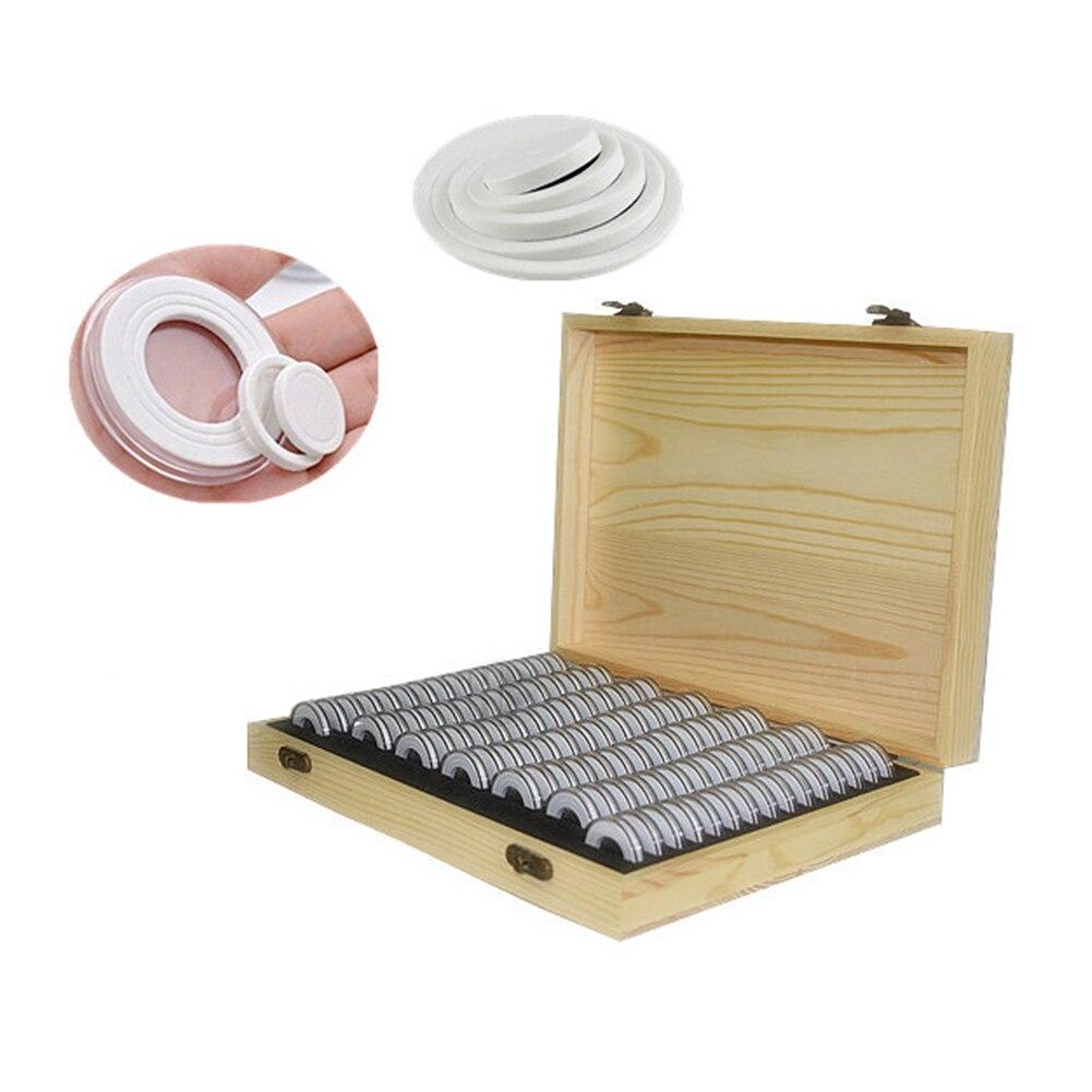 صندوق تخزين عالمي للعملات المعدنية ، شبكة 100 ، صندوق خشبي مقاوم للتآكل EVA