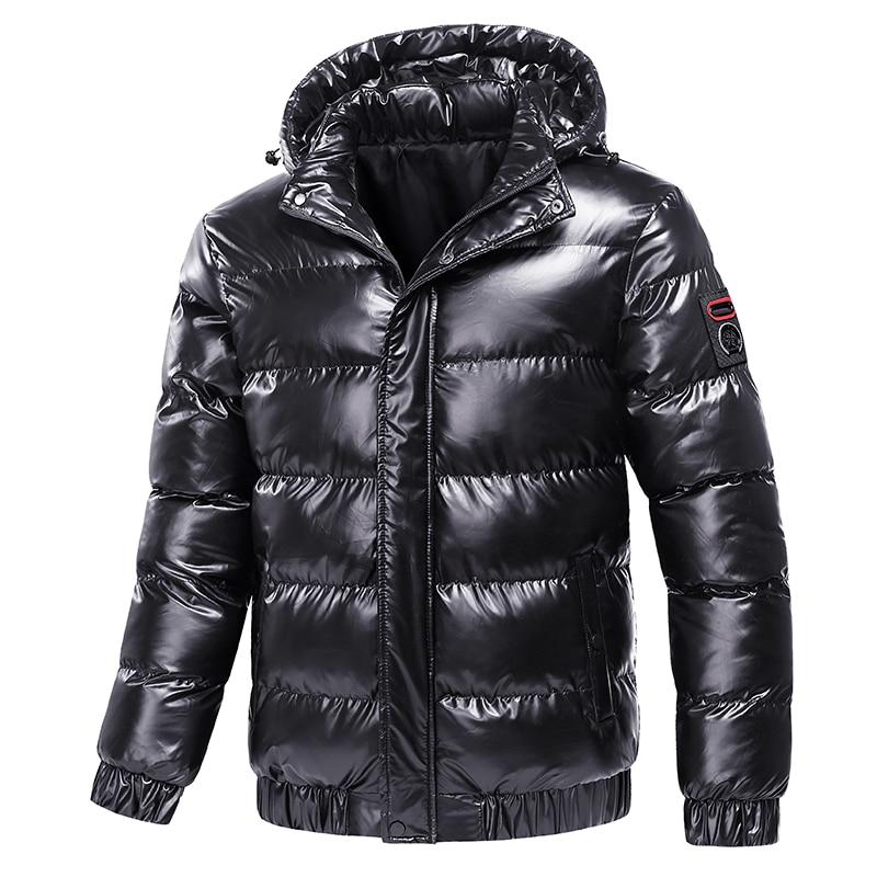 Зимние новые мужские парки с капюшоном, мужские уличные модные пальто, ветрозащитные повседневные парки, мужские пальто